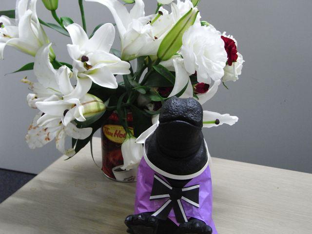 お花をもらいました。